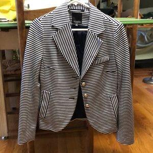 The Limited Navy white striped blazer
